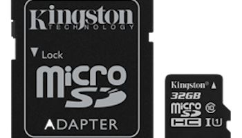 Kingston minneskort, microSDHC, 32GB, micro Secure Digital