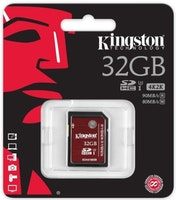 Kingston Canvas Select microSDHC-kort, 32GB, UHS-I, inkl. SD-korts, svart