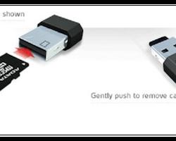 ADATA microReader Ver.3 USB 2.0 microSD-kortläsare, kortplatsen inuti USB-kontakten, LED, black/blue