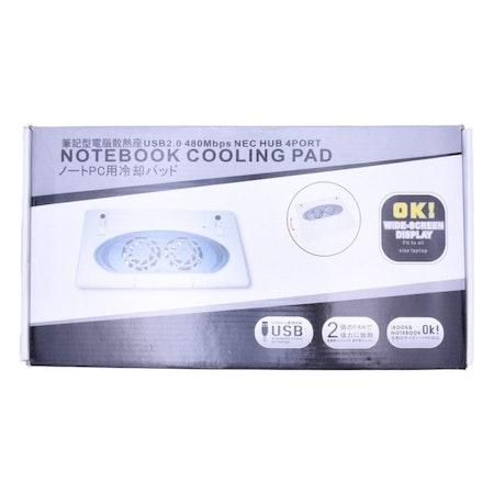 Notebook Cooler Pad med 4 portar och USB 2.0 Hub