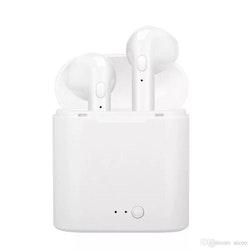 I7S TWS Bluetooth-hörlurar Trådlösa hörlurar Headset Dubbla öronproppar med laddningsbox för iPhone X Android med detaljhandelspaket