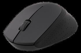 DELTACO trådlös optisk mus, 1200 DPI, 125 Hz, 3 knappar med scroll, 2.4GHz USB nano-mottagare, svart