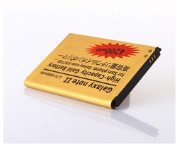 Samsung Galaxy Note 2 GT-N7100 Gold Extended High Capacity Battery 4200 mAh