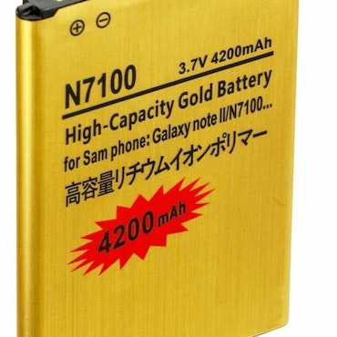 Samsung Galaxy Note 2 High Capacity Battery Gold Extended 4200 mAh