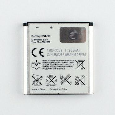 Original BST-38 Battery For Sony Ericsson W760 W902 S550 U2 C510 C902 C905 S500