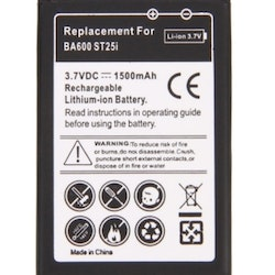 1500MAH BA600 REPLACEMENT BATTERY FOR SONY XPERIA U / ST25I