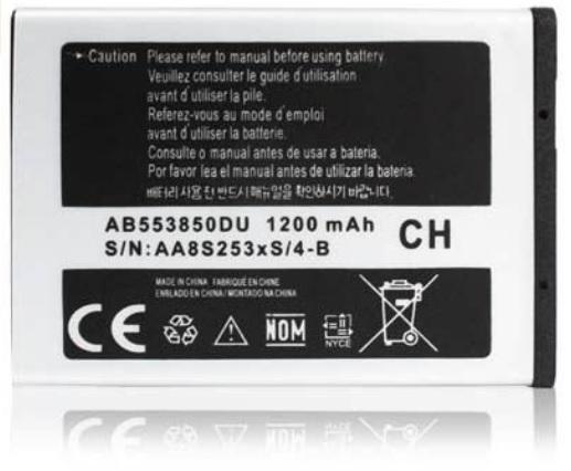 Samsung D888 D880 D988 W599 W619 W629 1200mAh AB553850DU Battery