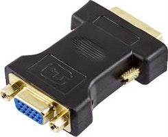 DELTACO DVI adapter analog DVI - analog VGA, ha - ho, svart