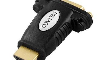 Adapter HDMI ha till DVI-D ho Svart