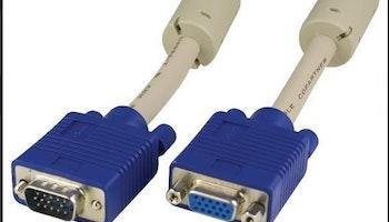 VGA kabel HD15M-HD15F HQ 2m L/B