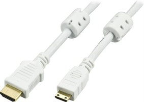DELTACO High-Speed Premium HDMI-kabel, 2m, Ethernet, 4K UHD, vit