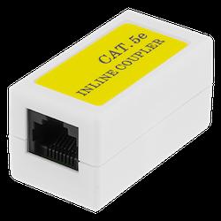 DELTACO skarvdon Cat5e, UTP (oskärmad), hona-hona, vit