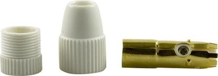DELTACO antennkontakt, 9,5mm hona, skruvmontering, guldpläterade kontakter