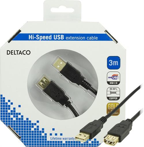 USB 2.0 kabel Typ A ha - Typ A ho