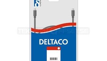 DELTACO USB 2.0 kabel Typ A ha - Typ A ho 0,1m