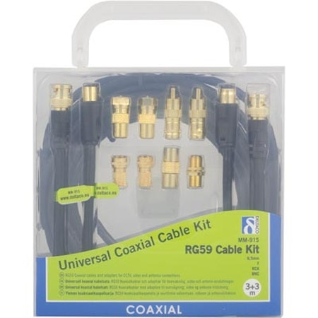 Deltaco Universal Coaxial Cable Kit RG59 Cable Kit MM-91S
