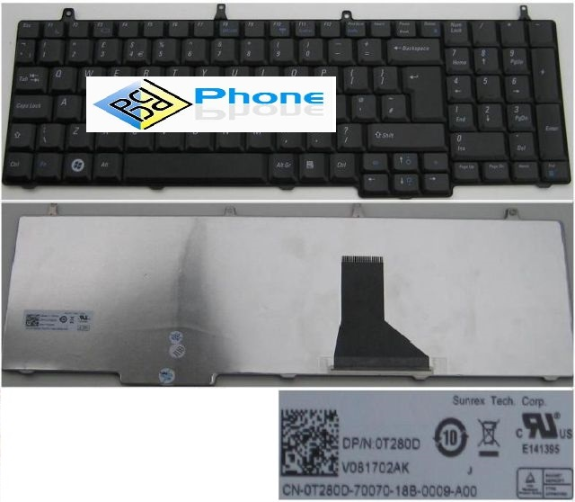 DELL VOSTRO 1710 1720 LAPTOP KEYBOARD  Svart V081702AK 0T280D T280D
