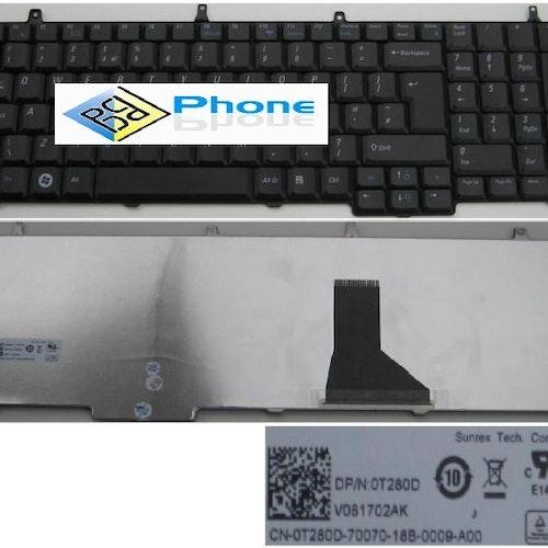 DELL VOSTRO 1710 1720 LAPTOP KEYBOARD  Svart V081702AK 0T280D T280D
