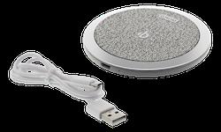 DELTACO Trådlös snabbladdare för iPhone och Android, 10W, tyg, Qi-certifierad, grå
