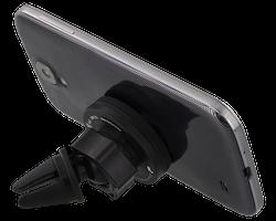 DELTACO bilhållare med magnet för ventilationsgaller, för smartphones, vinklingsbar, svart