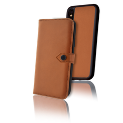 ERCKO 2-1 AIRFLEX MAGNET CASE AND WALLET IPHONE XR COGNAC