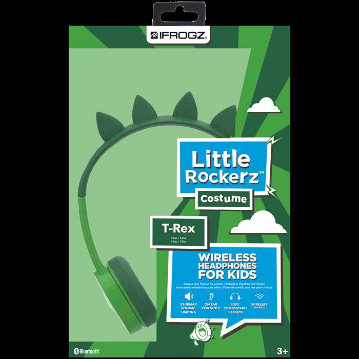 IFrogz Little Rockerz Costume Trådlösa Barnhörlurar - T-Rex