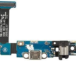 amsung Galaxy S6 Edge G925f laddkontakt flex med mikrofon & hörlursuttag