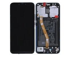 Svart Huawei Mate 20 Lite Skärm med Ram och Batteri Original