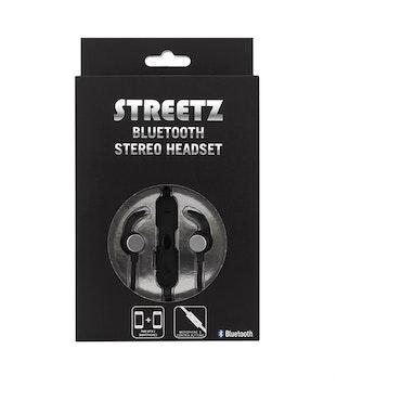 STREETZ Bluetooth stereo headset, mikrofon och volymkontroll, 32Ω, 6-8h speltid, grå