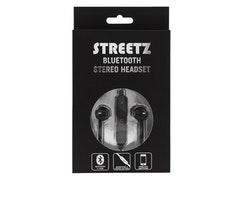 STREETZ Bluetooth in-ear headset  Bluetooth 4.1 svart