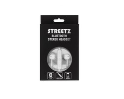 STREETZ Bluetooth in-ear headset, Bluetooth 4.1  vit