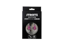 STREETZ Bluetooth-sporthörlurar med mikrofon, Bluetooth  grå/rosa