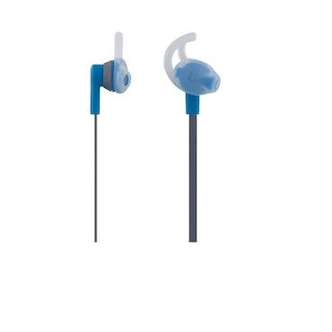 STREETZ Bluetooth stay-in-ear headset med mikrofon, Bluetooth 4.1  grå/blå