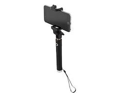 STREETZ selfiestång med inbyggd slutare, Bluetooth 3.0, 10m, svart/silver