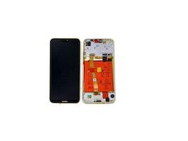 Guld Huawei P20 Lite Skärm med Ram och Batteri Original