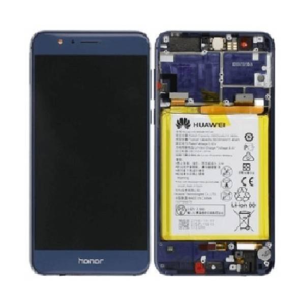 Original Honor 8 LCD Skärm med Ram och batteri