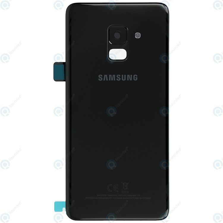 Samsung Galaxy A8 A530 Bak Glass batterilucka Svart