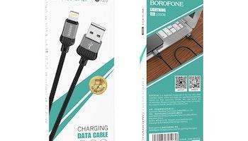 BOROFONE BX28 Dignity Lightning kabel för iPhone, 1m grå