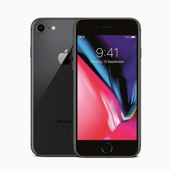Begagnad Iphone 8 Svart ,64GB Olåst, no touch ID