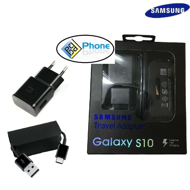 Samsung Galaxy S10 TA200 Fast Wall Charger Type C Cable S10e S10 Plus