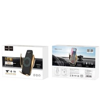 HOCO Wireless car charger with holder - CA34 gold