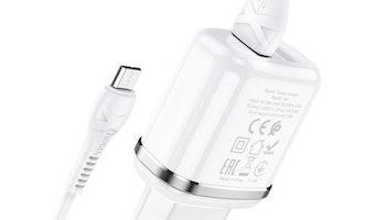 HOCO N4 Laddare dual USB 2.4 Output Vit