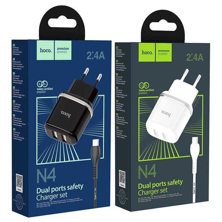 HOCO N4 Laddare dual USB 2.4 Output