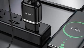 HOCO N4 Laddare dual USB 2.4 Output Svart