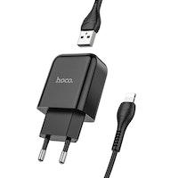 HOCO N2 Laddare med Micro-USB kabel, 2.4 Output Svart