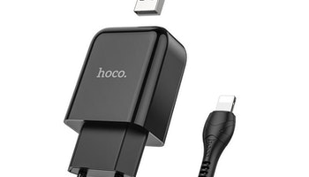 HOCO N2 Laddare med Micro-USB kabel, 2.4 Output Svart