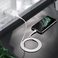 HOCO N2 Laddare med Lightning USB kabel, 2.4 Output Vit