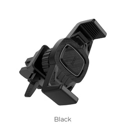 CA38 Platinum sharp air outlet in-car holder – black