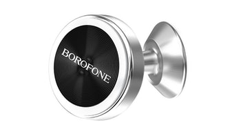 BOROFONE BH5 Platinum in-car phone holder, aluminum alloy, magnetic, small size, durable, for dashboard.