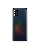 Samsung Galaxy A71 A715f Bak Glas batterilucka svart